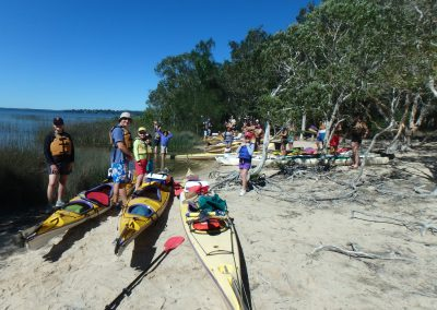 Getting ready at Elanda Point in the Noosa Everglades.