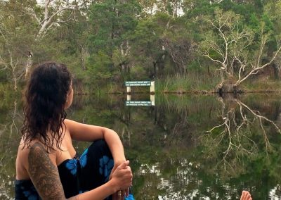 relaxing along the Upper Noosa River in the Noosa Everglades